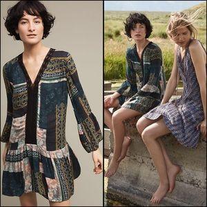 Patchwork Peasant Dress Anthropologie